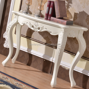 Bedroom furniture White French style antique wooden dressing table with silver painted