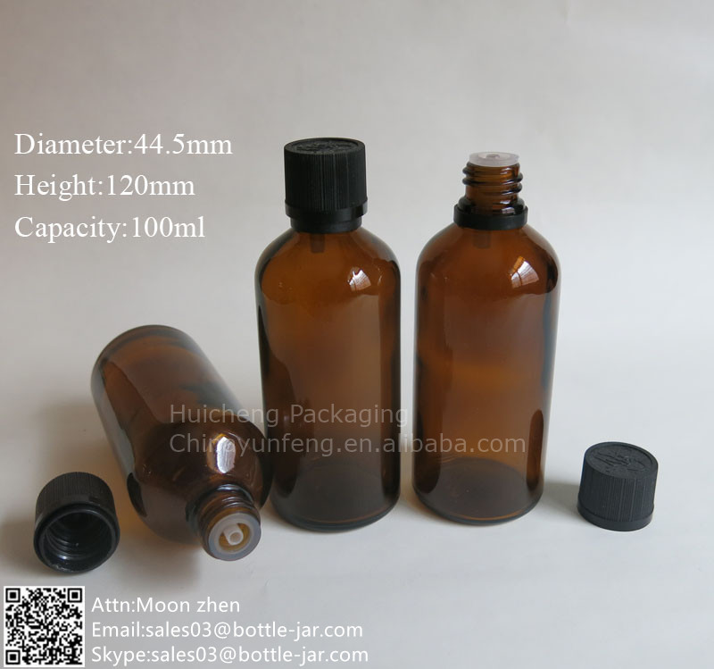 Wholesale 100ML amber olive oil glass bottles with screw top