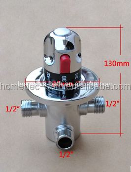 "1/2"" Brass Thermostatic Shower Mixer Valve ,Thermostatic Mixing Valve For Solar System"