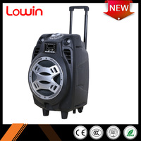 China best sale bass outdoor party subwoofer trolley battery powered speaker