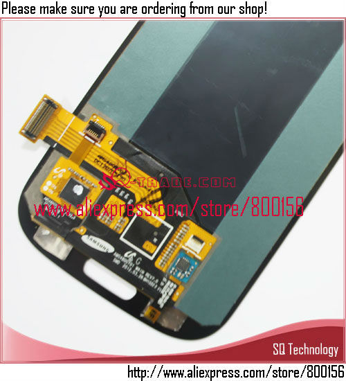 LCD Display With Touch Digitizer Assembly For Samsung For Galaxy S3 i9300 Gray Color