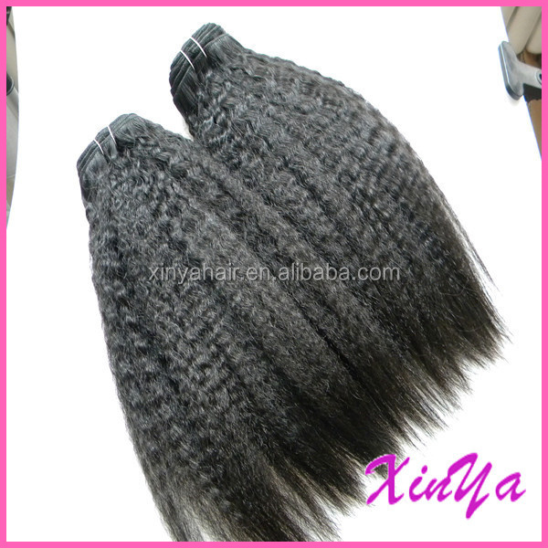 alibaba express peruvian human hair yaki type machine weft fashion hair
