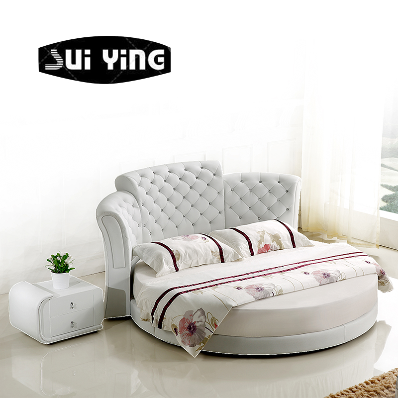 stylish big round bed in China CY015