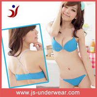 lingerie factory -- Young ladies jersey blue bikini, sexy bra panty your design