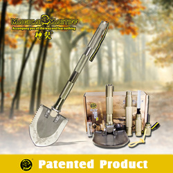 Hiking Emergency Kit And Supplies Multifunction Shovel With Screwdriver Hammer Knife