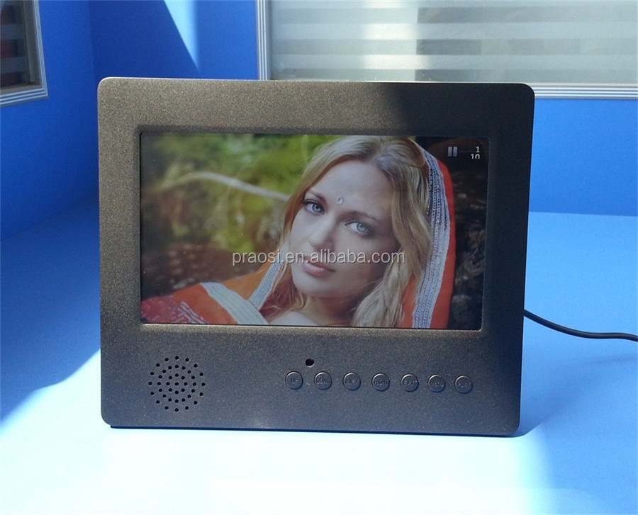 video loop lcd screen digital album 1080P display 7""