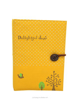 new products linen material button stretchable book cover