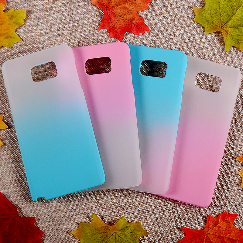 Factory price gradational color rubber cover case for Samsung note7 case