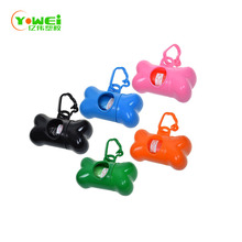 Manufacture supply multi-color Bone Shaped Pet Waste Disposal Dog Poop Bags Dispenser