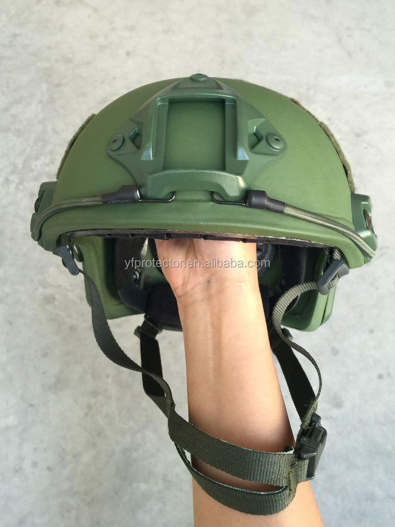 NIJ 0106.01 standard military combat aramid tactical FAST green helmet for army