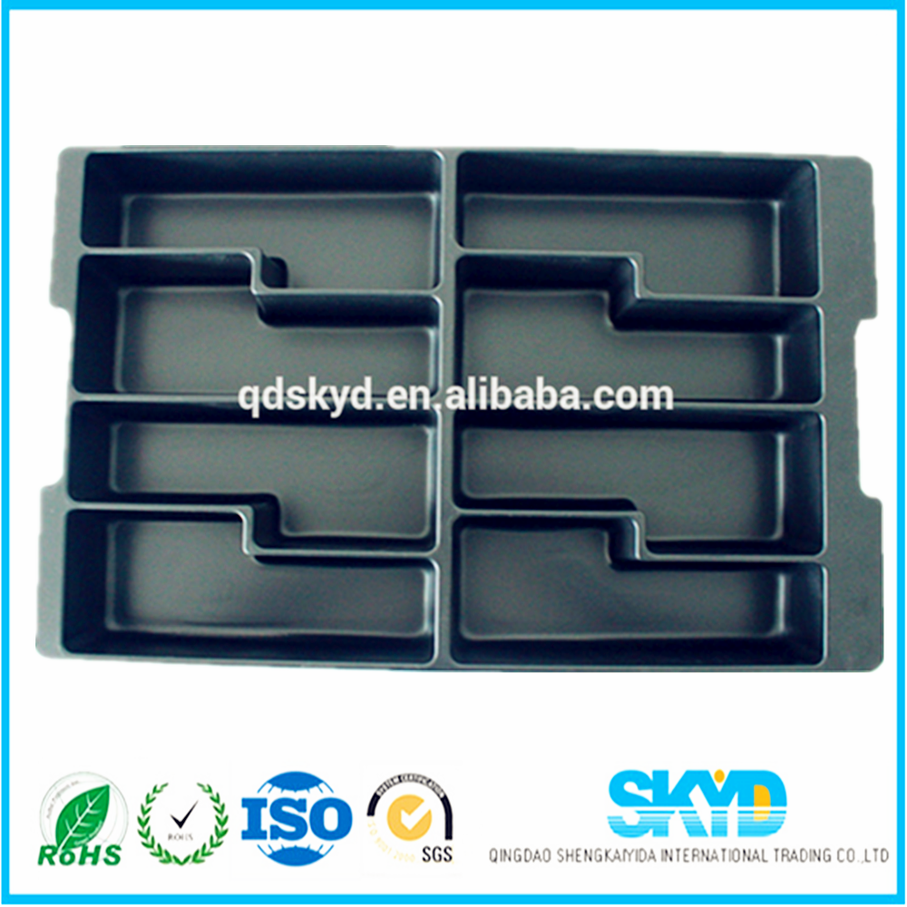 large Vacuum forming plastic trays ESD( anti-static)electronic component blister packaging tray