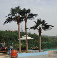 High imitation best selling cheap plastic palm tree for outdoor decoration and lanscaping
