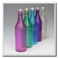 domestic decorative swing clip glass bottle