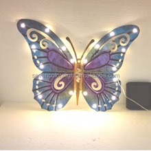 SCL0133 decorative wall metal butterfly solar powered lights
