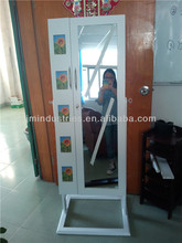 full-length mirrored jewelry armoire