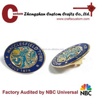 Custom high-quality metal souvenir figure lapel pin