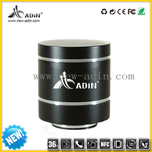 mini aluminum alloy Vibration Speaker with Bluetooth CSR 4.0 and SD card and FM radio