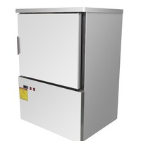 Stainless Steel Undercounter Freezer And Counter