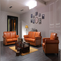 New design american style modern home drawing room leather sofas living bed room furniture