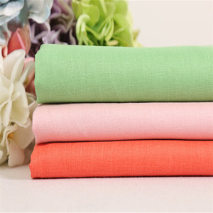 Wholesale 100% 14S*14S pure linen fabric for shirt