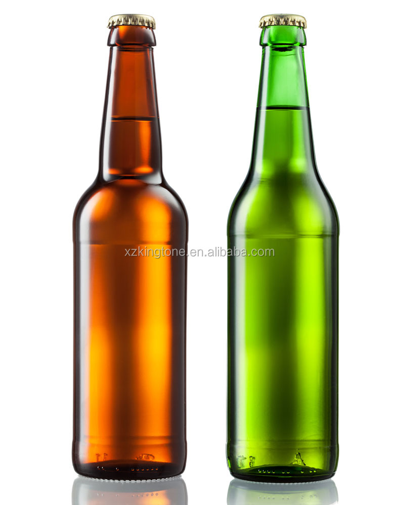 330ml amber standard food grade beer glass bottle with crown cap