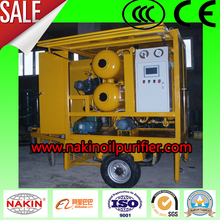 mobile type insulating oil purifier/transformer oil purification machine