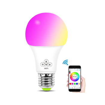 OEM Smart Lighting Control System Wifi RGB Warm white 4.5W Dimmable E26 E27 Led Bulb with alexa and google home