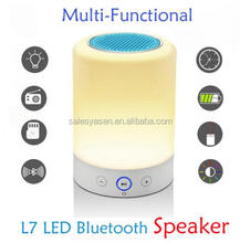 L7 3 in 1 Portable touch lamp bluetooth speaker Radio with Adjust Brightness Timing Function
