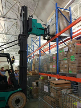China Tri-lateral head unit forklift trucks on warehouse narrow place supermarket supplier