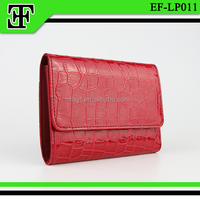 Wholesale fashion crocodile square red genuine leather ladies clutch purse for women