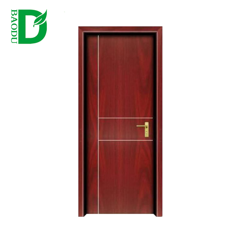 Baodu Brand single leaf building room WPC door Modern factory directly sale for foreign market