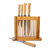 Bamboo knife organizer holder Bamboo in drawer Knife block