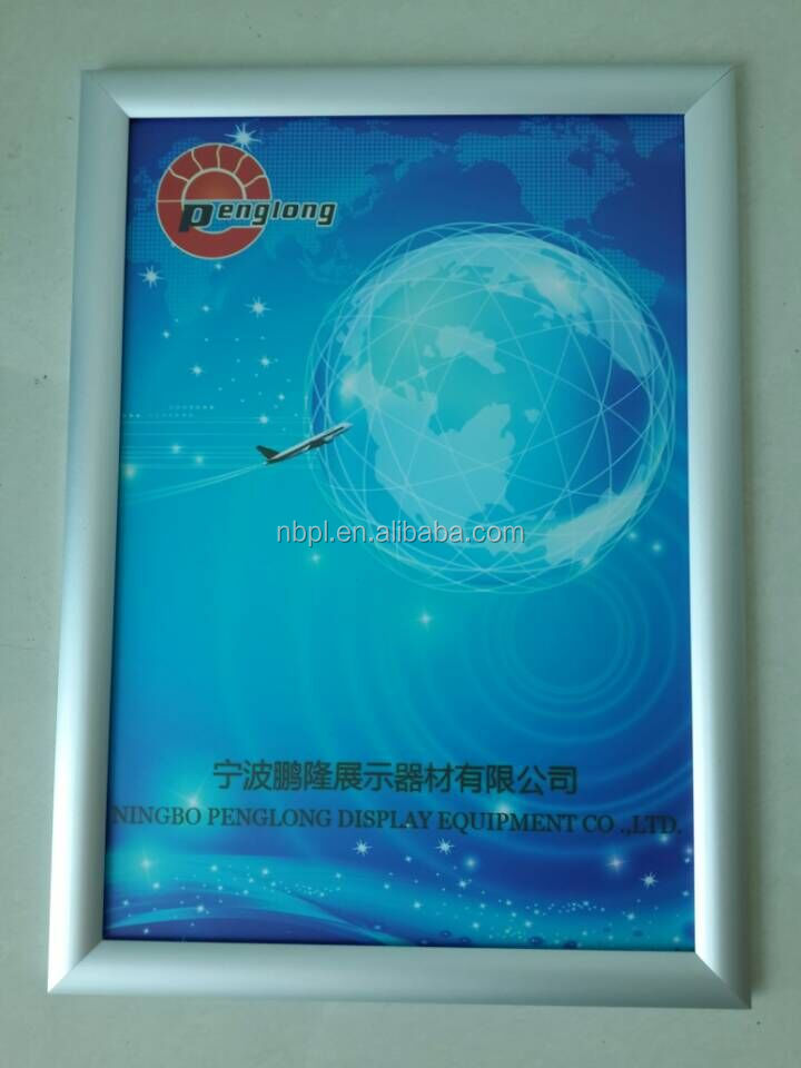 aluminum metal type painting frame snap frame 25mm photo poster frame 8.5*11
