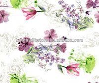 Low MOQ AZO Free Floral Butterfly Pattern Make to Order 100 Silk Fabric