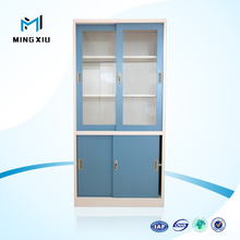 Low price high quality lockable cabinet with glass door / archive cabinet