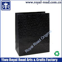 UV shot gift paper bag with rope handle