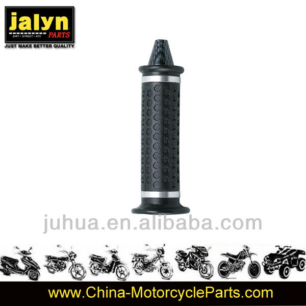 Black With Cap Chrome Motorcycle High Quality Rubber Handle Grip