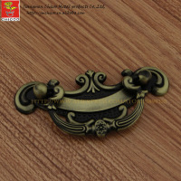 China suppliers zinc alloy Antique Brass furniture handle and knob, cabinet flush handle,drawer pull