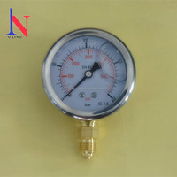 "Customized 2.5"" 63mm crimped bezel liquid filled pressure gauge"