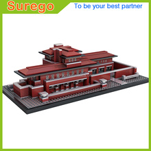 Loz World Architecture The Frederick C. Robie House Mini 3D Model Building Blocks DIY Assembly Bricks Toys for Children