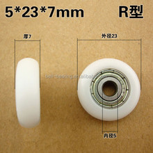 Plastic POM coated pulley ball bearing 608zz used for Sliding Door and window