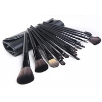18pcs Pro Makeup Cosmetic Brush Sets Kit + Roll Up Case for beauty
