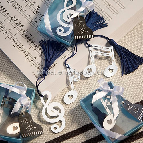 Wedding Favors Musical Note Bookmark