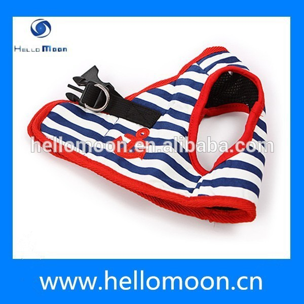 Newest Stripe Sailor Style Comfortable Custom Dog Harness