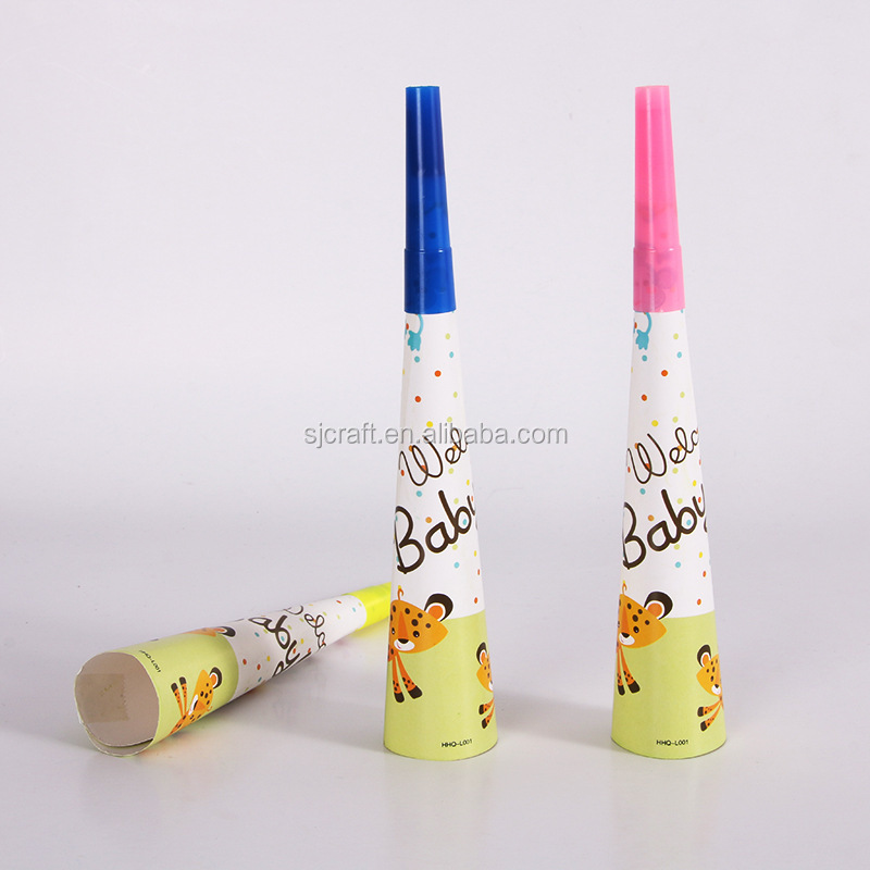 Hot selling high quality horns for party favor paper horn blowout BD-02