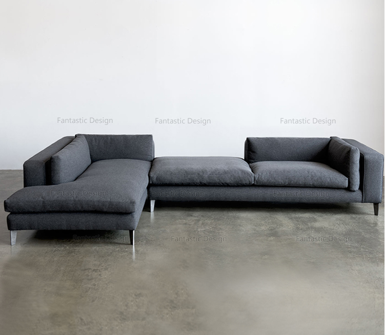 Modern Lobby Sofa Design L Shape Corner Fabric Heated Sofa