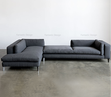 Modern Lobby Sofa Design L Shape Corner Fabric Heated Sofa Modern Sofa Metal Frame