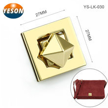 Gold Square Custom Bag Hardware Twist Lock