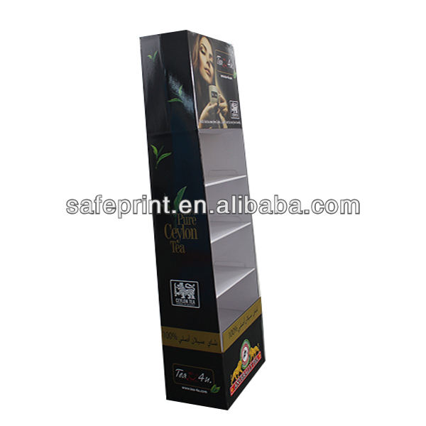 Color printed retail display shelf,single side supermarket shelf