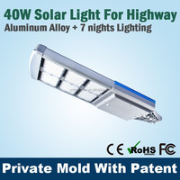 High Power Parking Lot Lighting 40W Solar Street Light All In One